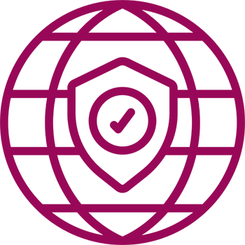 Worldwide Check Maroon Icon