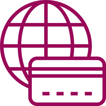 Worldwide Currency Maroon Icon